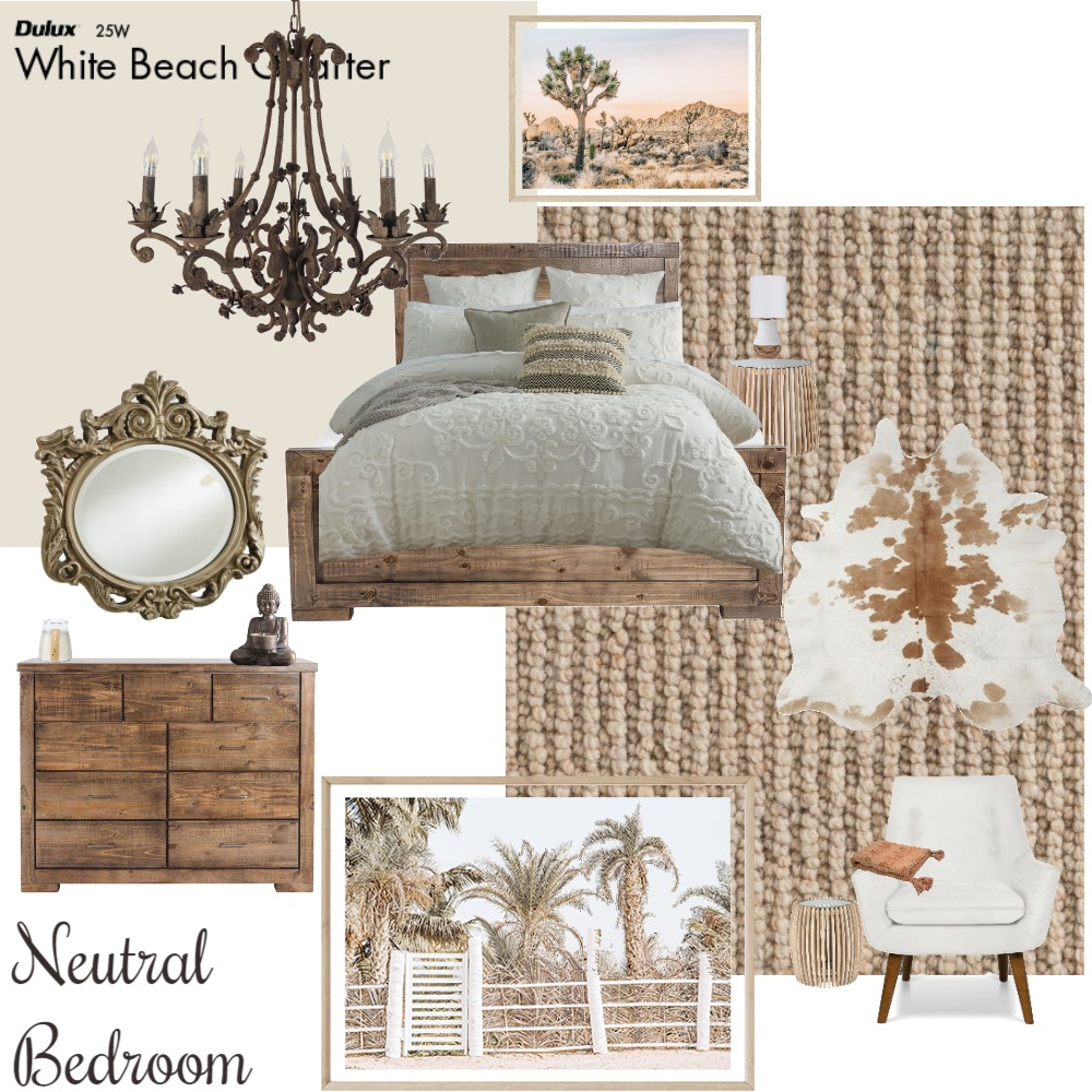 Neutral bedroom Interior Design Mood Board by MsAries on Style Sourcebook