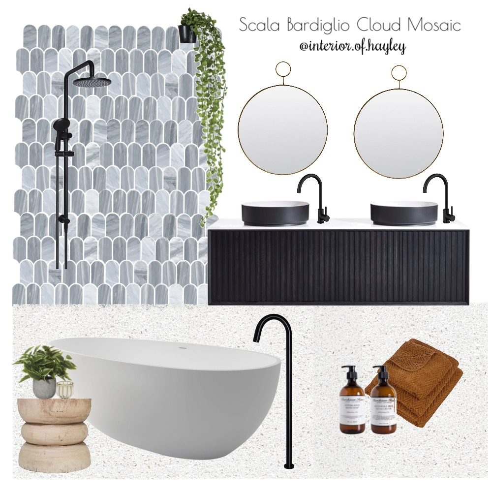 Marble bathroom Interior Design Mood Board by Two Wildflowers on Style Sourcebook