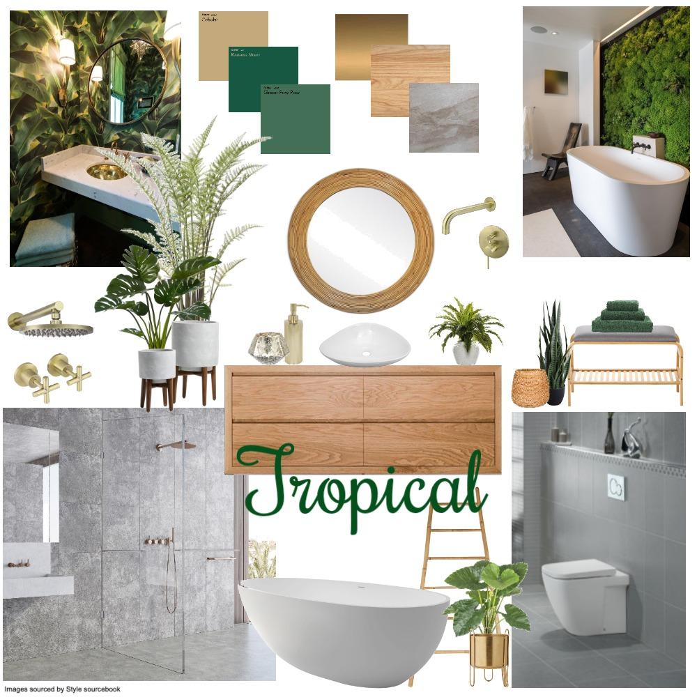 Tropical bathroom Interior Design Mood Board by Stella Silva on Style Sourcebook