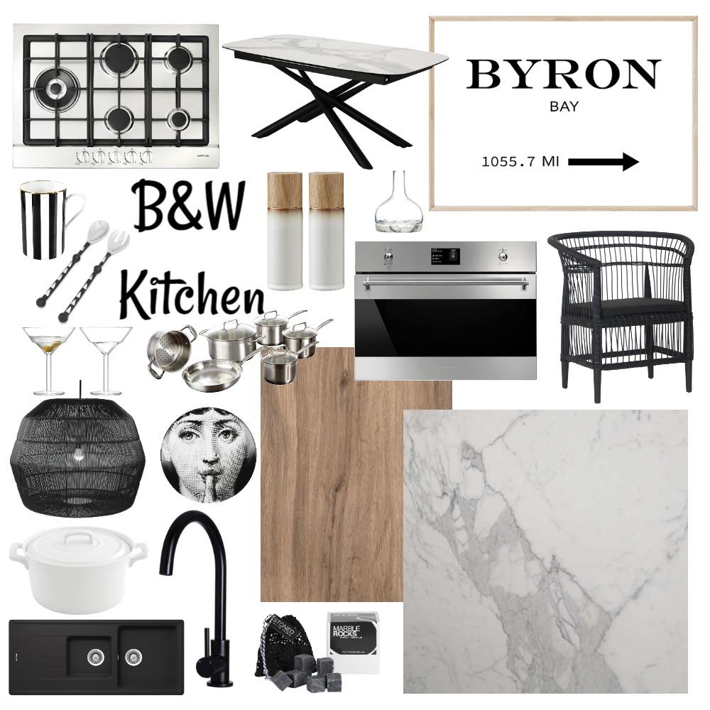 Black & White Kitchen Interior Design Mood Board by belinda__brady on Style Sourcebook