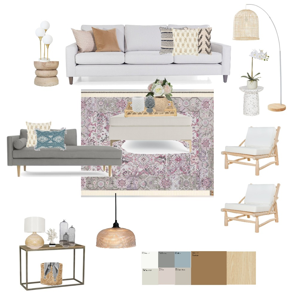 Neutral Luxe living room Interior Design Mood Board by MelissaKW on Style Sourcebook