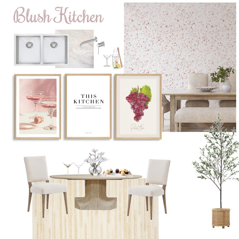 Blush Kitchen Interior Design Mood Board by Olive et Oriel on Style Sourcebook