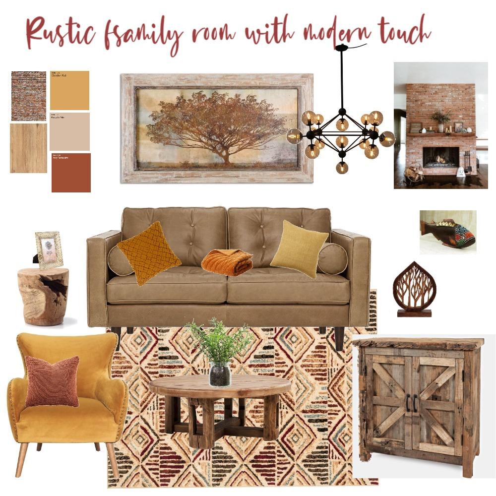 Rustic living Room Interior Design Mood Board by yanaplotkin on Style Sourcebook