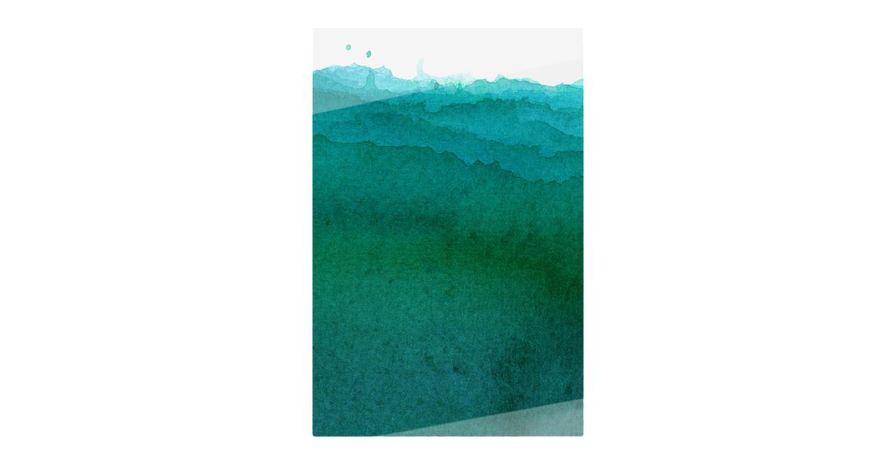The Cyan Print Metal Print Small Ocean