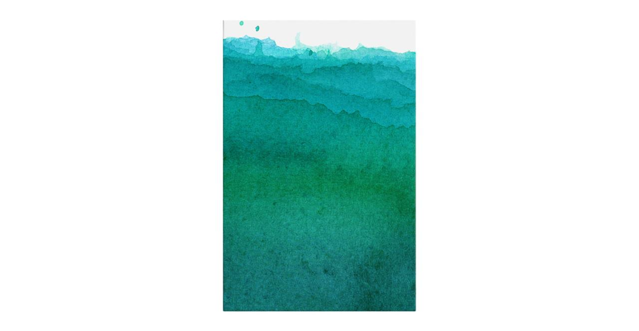 The Cyan Print Canvas Medium Ocean