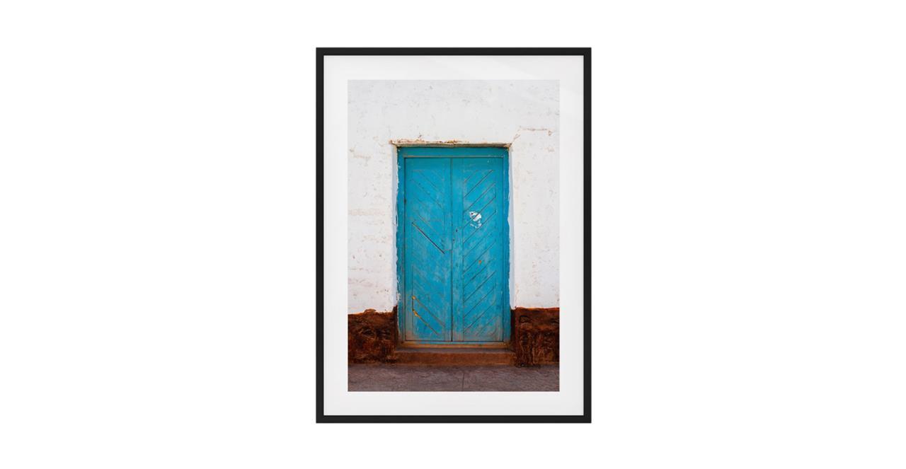 The Doorway Print Black Wood Frame Small
