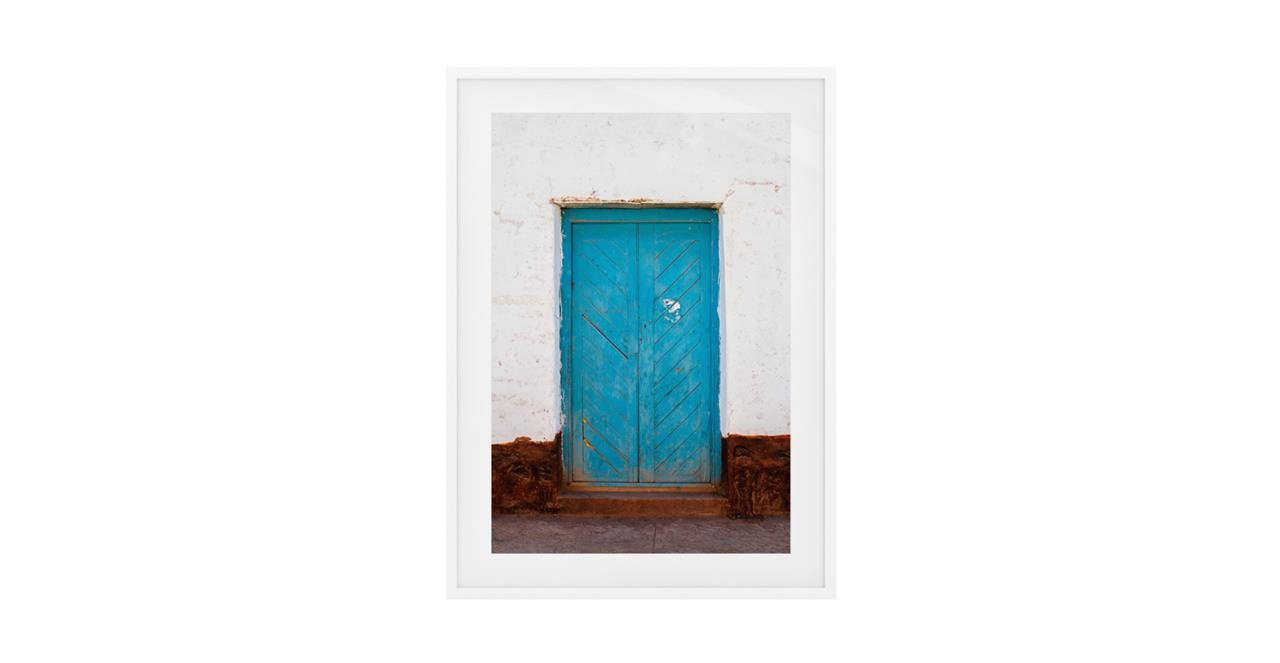 The Doorway Print White Wood Frame Small