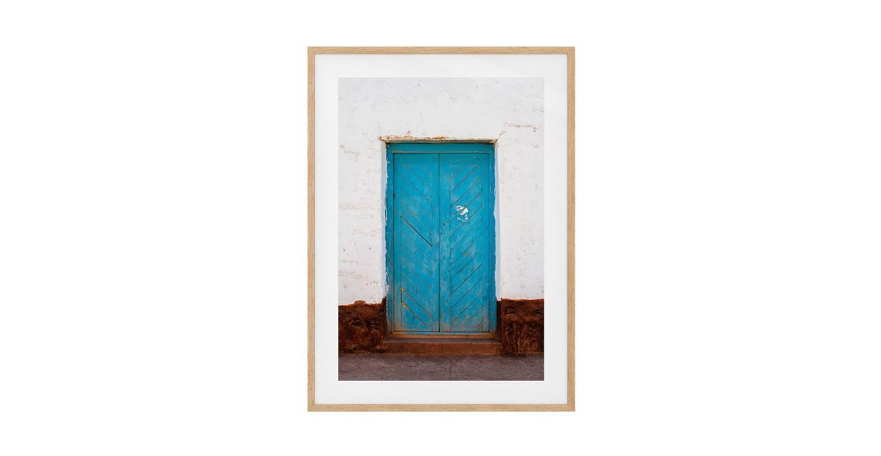 The Doorway Print Natural Wood Frame Medium