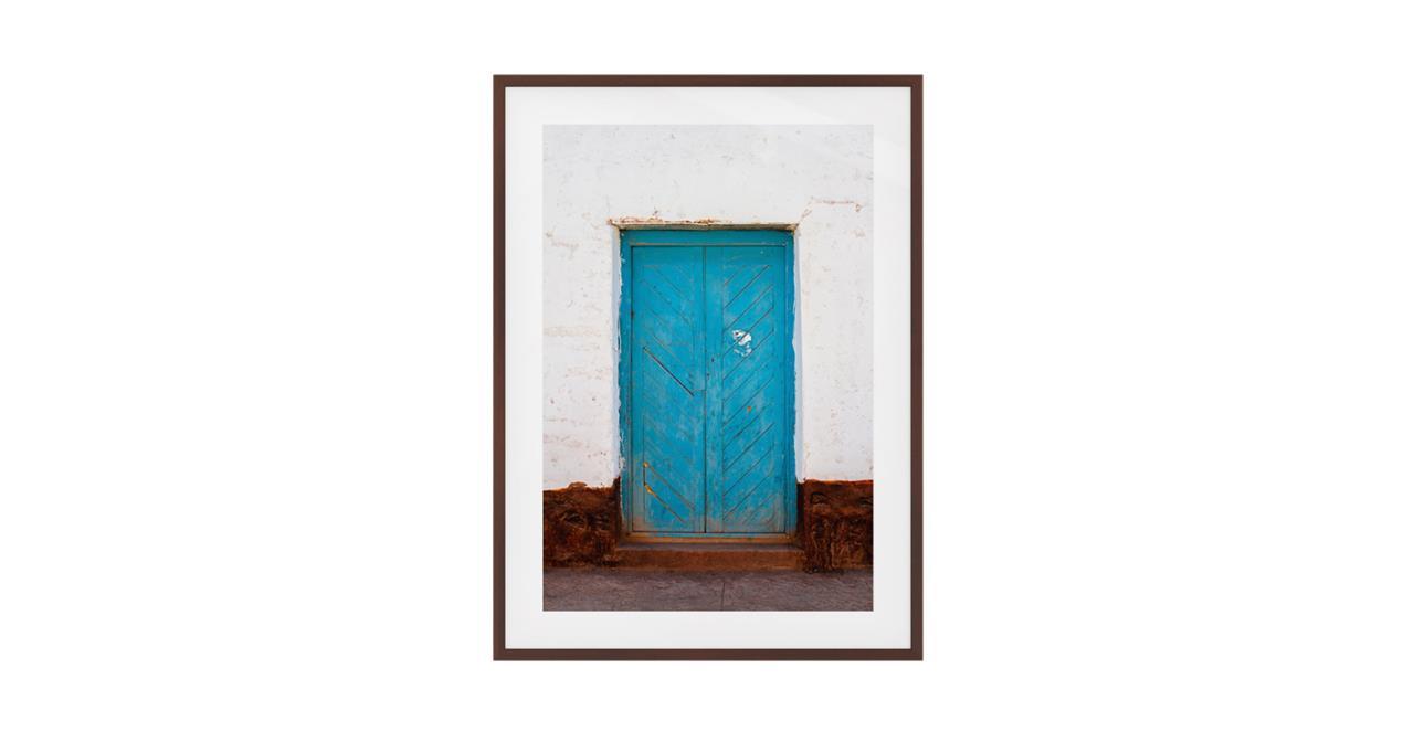 The Doorway Print Dark Brown Wood Frame Medium