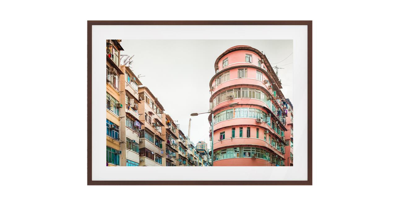 The Downtown Print Dark Brown Wood Frame Small