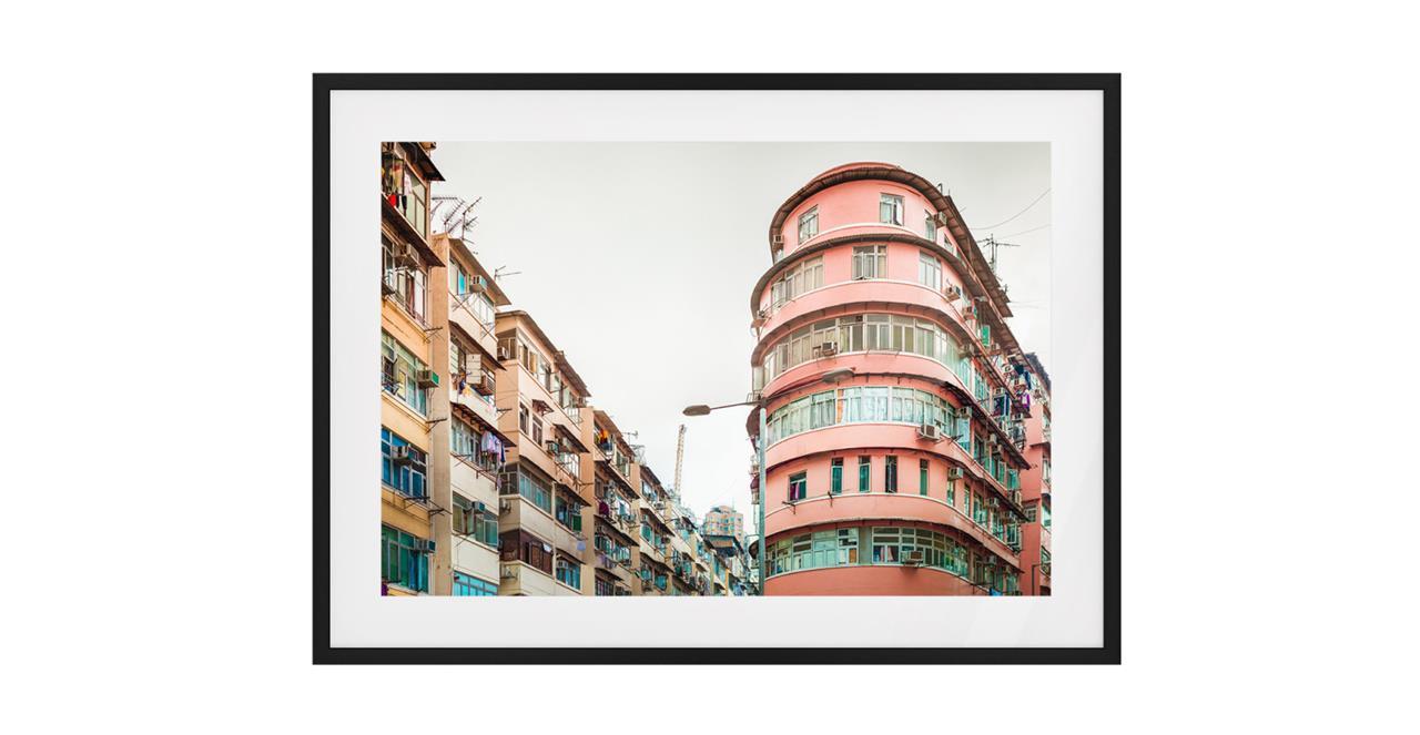 The Downtown Print Black Wood Frame Medium