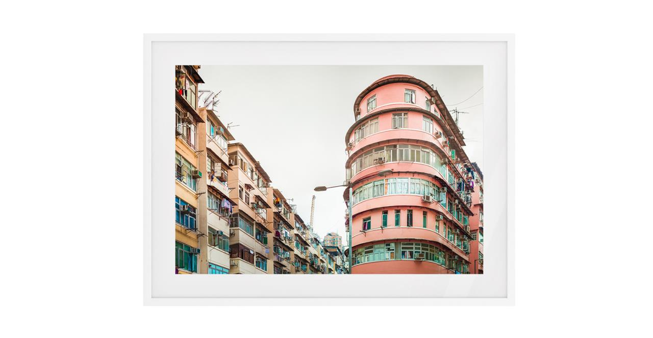 The Downtown Print White Wood Frame Medium