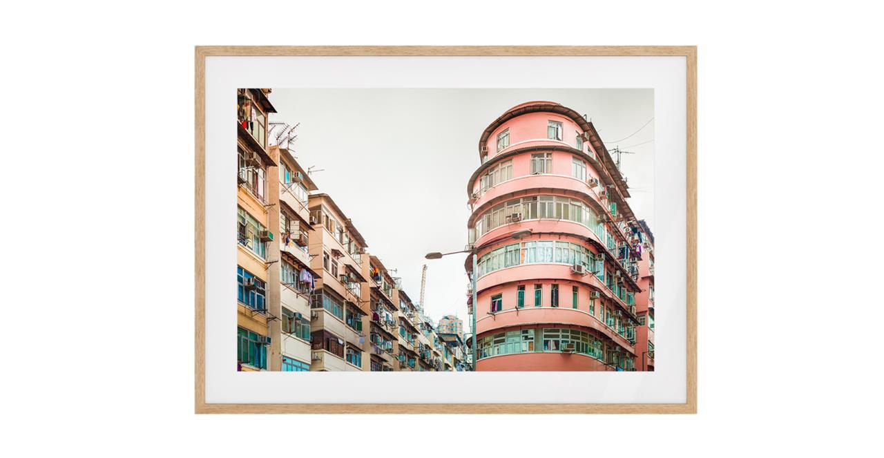 The Downtown Print Natural Wood Frame Medium