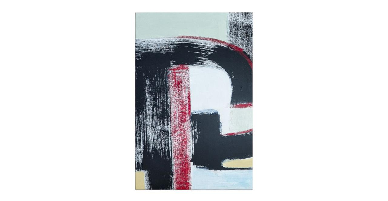 The Farbe Print Canvas Small Red