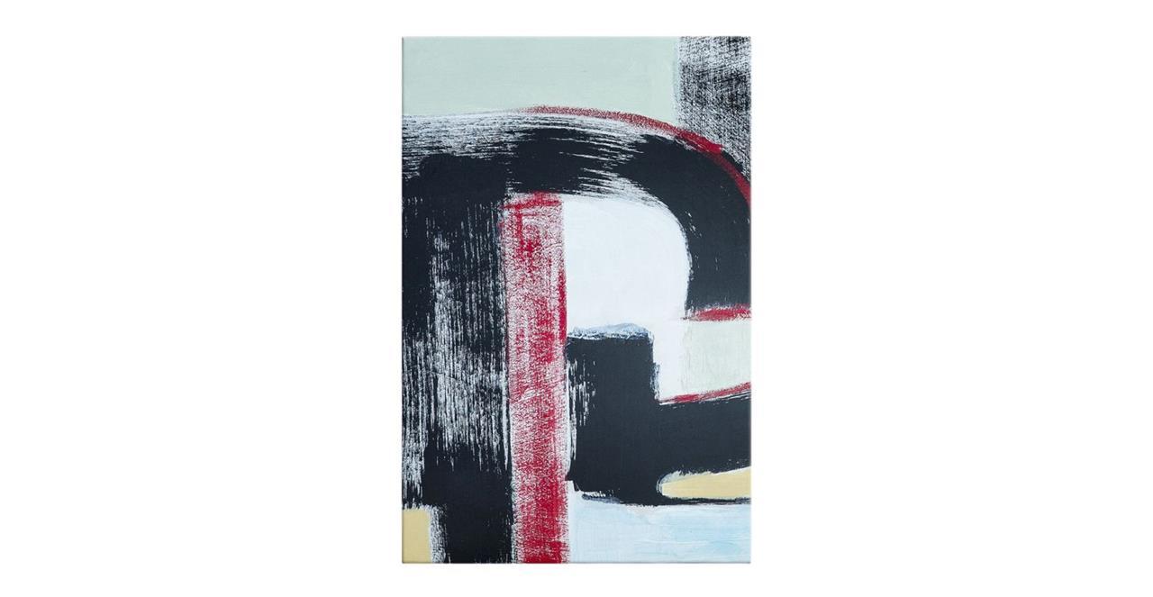 The Farbe Print Canvas Medium Red