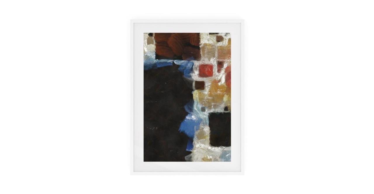 The Mosaic Print White Wood Frame Medium One
