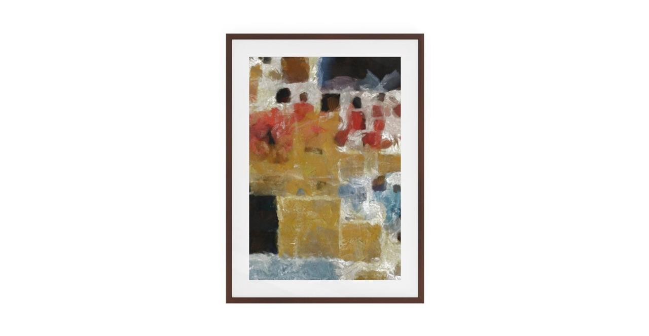 The Mosaic Print Dark Brown Wood Frame Small Two