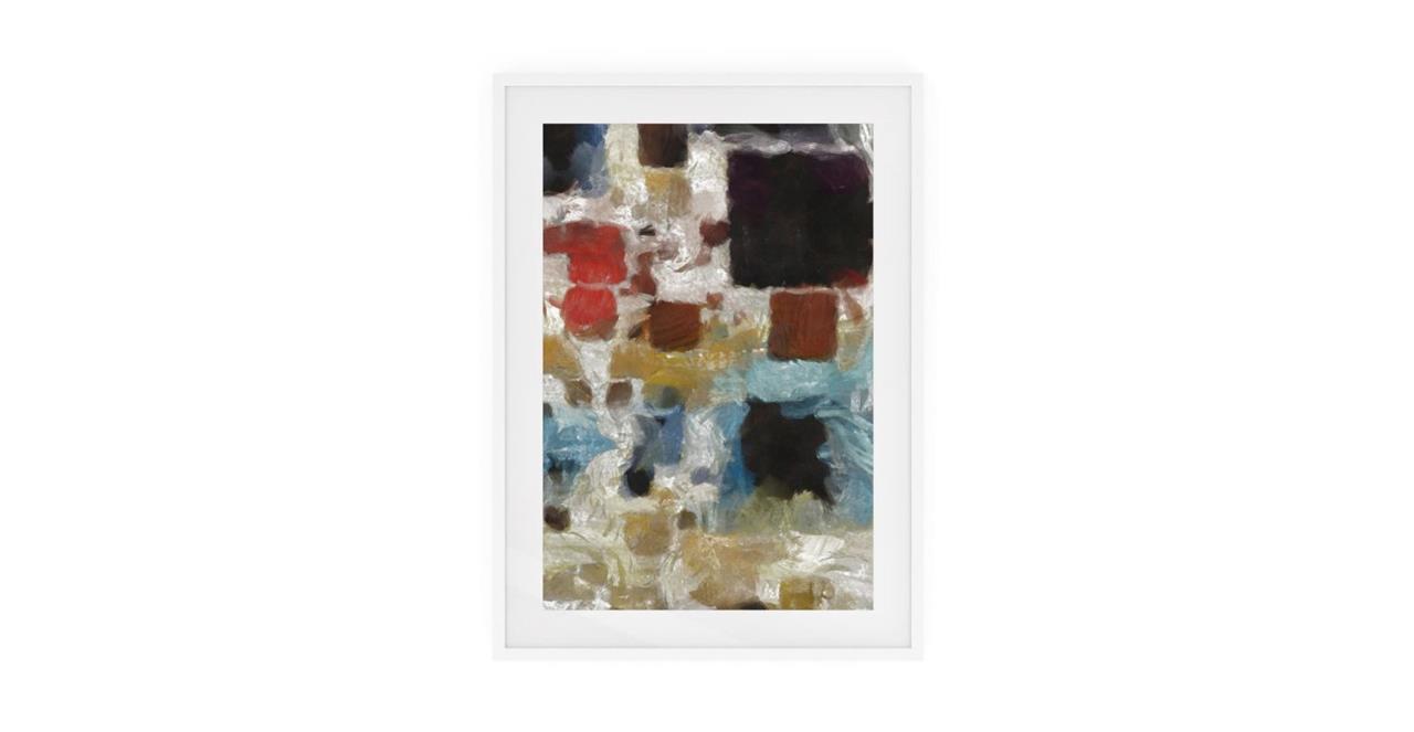 The Mosaic Print White Wood Frame Small Three