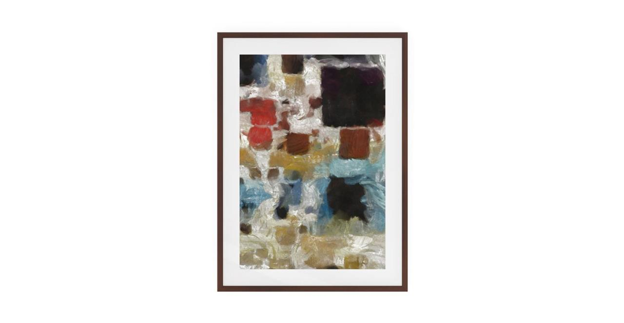 The Mosaic Print Dark Brown Wood Frame Small Three