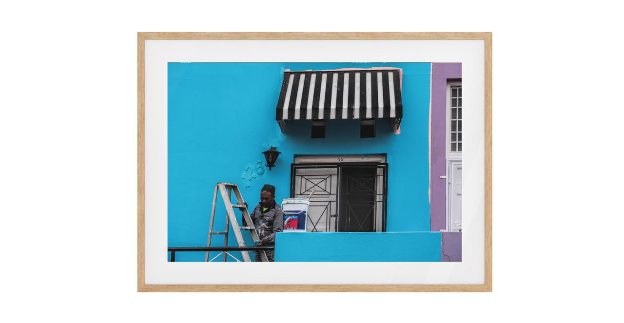The Neighbourhood Print Natural Wood Frame Small