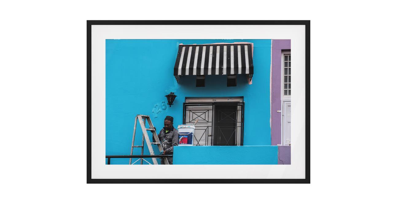 The Neighbourhood Print Black Wood Frame Medium