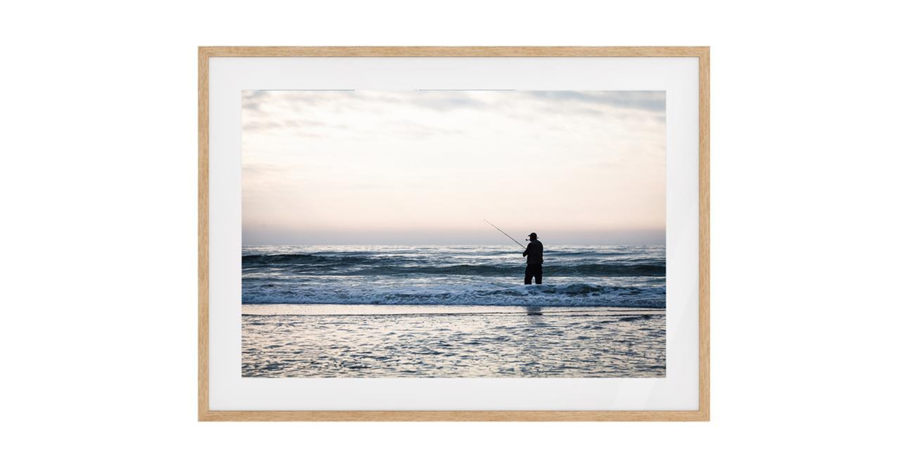 The Ocean Print Natural Wood Frame Medium