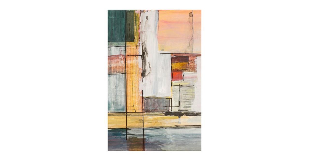 The Panels Print Canvas Medium Green