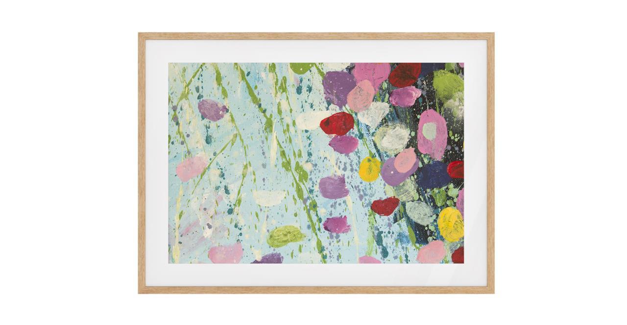 The Perennial Print Natural Wood Frame Small