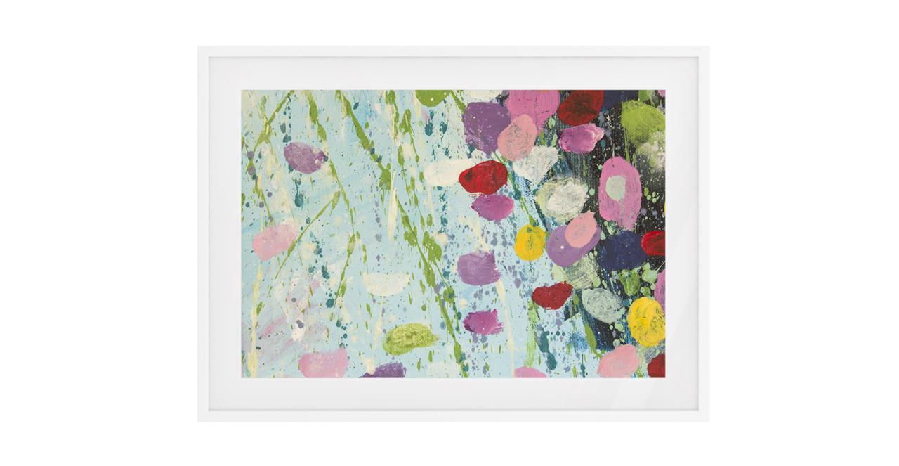The Perennial Print White Wood Frame Medium