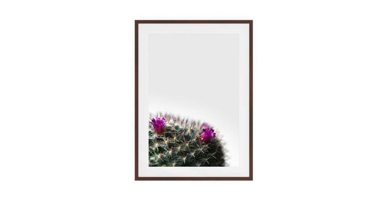 The Prickle Print Dark Brown Wood Frame Small Left