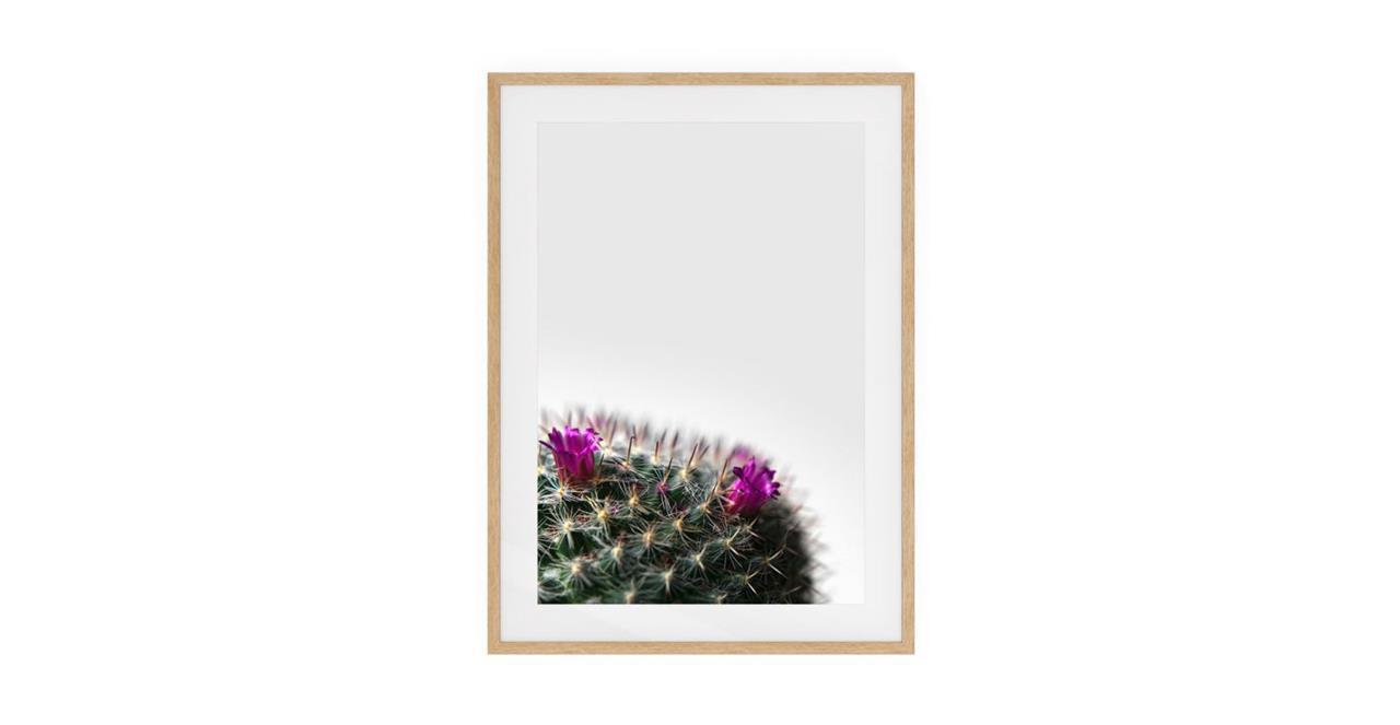 The Prickle Print Natural Wood Frame Medium Left