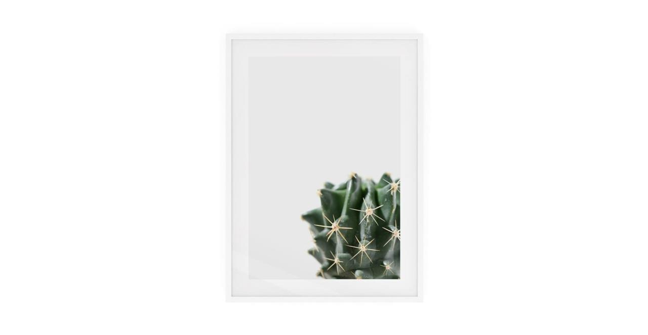 The Prickle Print White Wood Frame Small Right