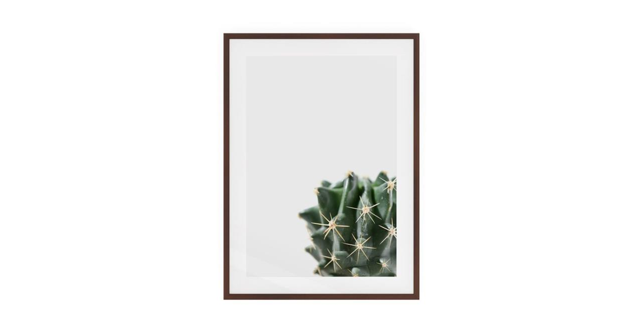 The Prickle Print Dark Brown Wood Frame Small Right