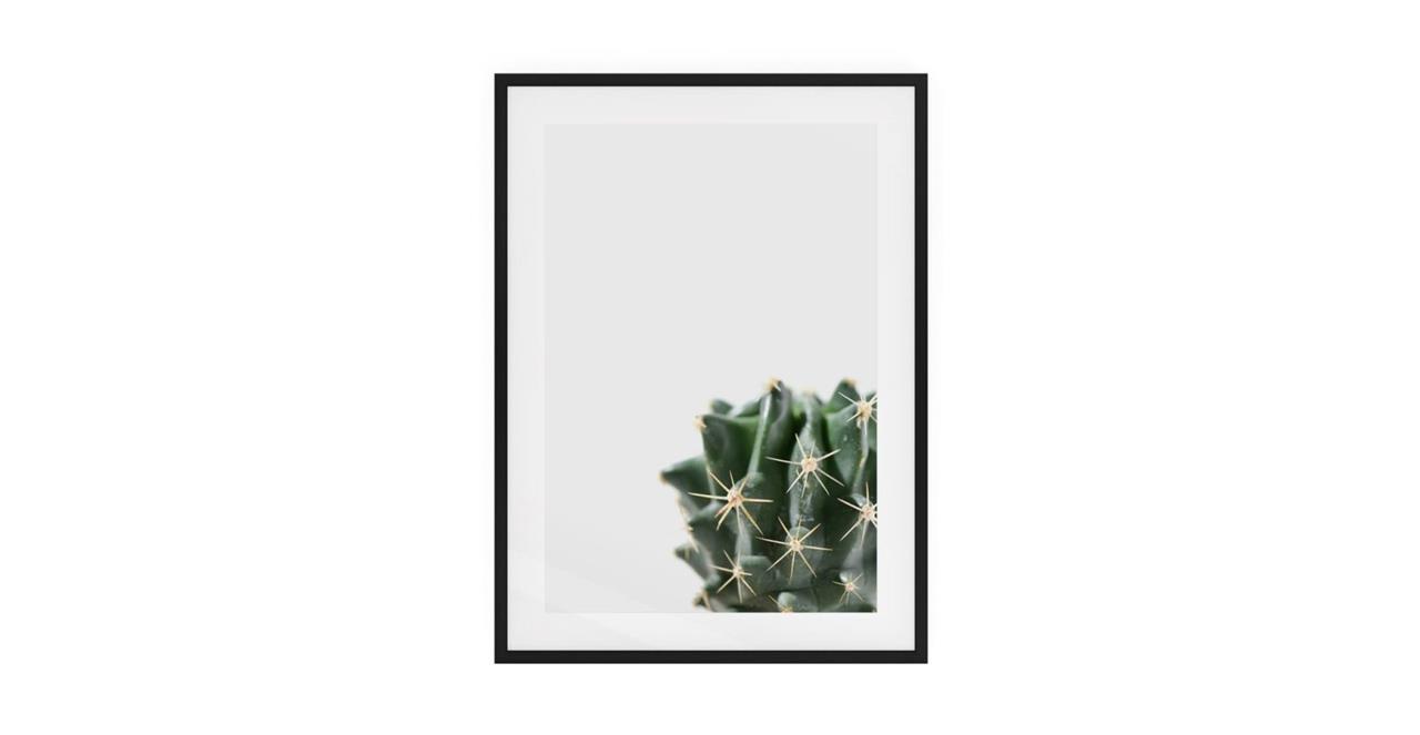 The Prickle Print Black Wood Frame Medium Right
