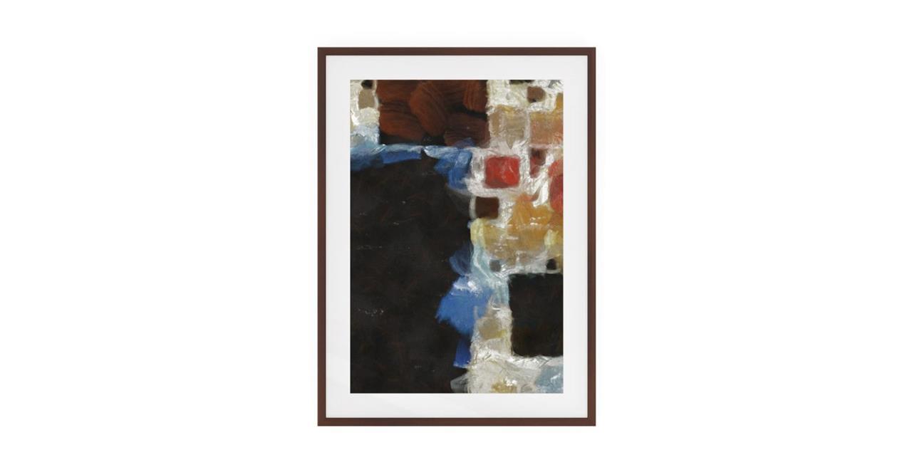 The Mosaic Print Dark Brown Wood Frame Small One