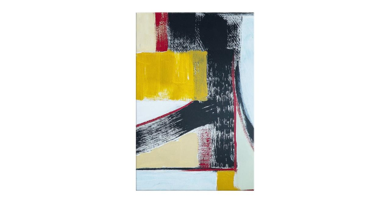 The Farbe Print Canvas Small Yellow