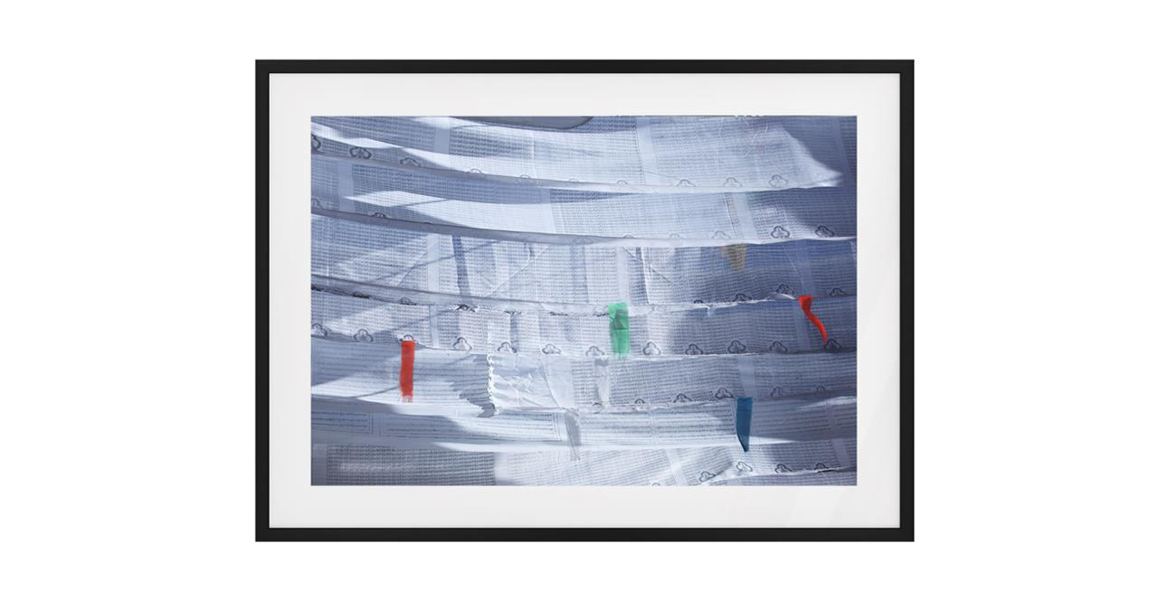 The Flags Print Black Wood Frame Medium