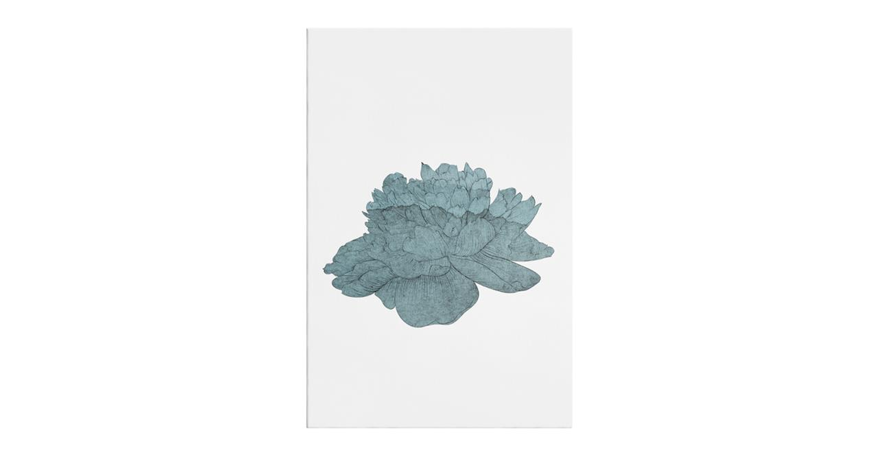 The Flowering Print Canvas Small Turquoise
