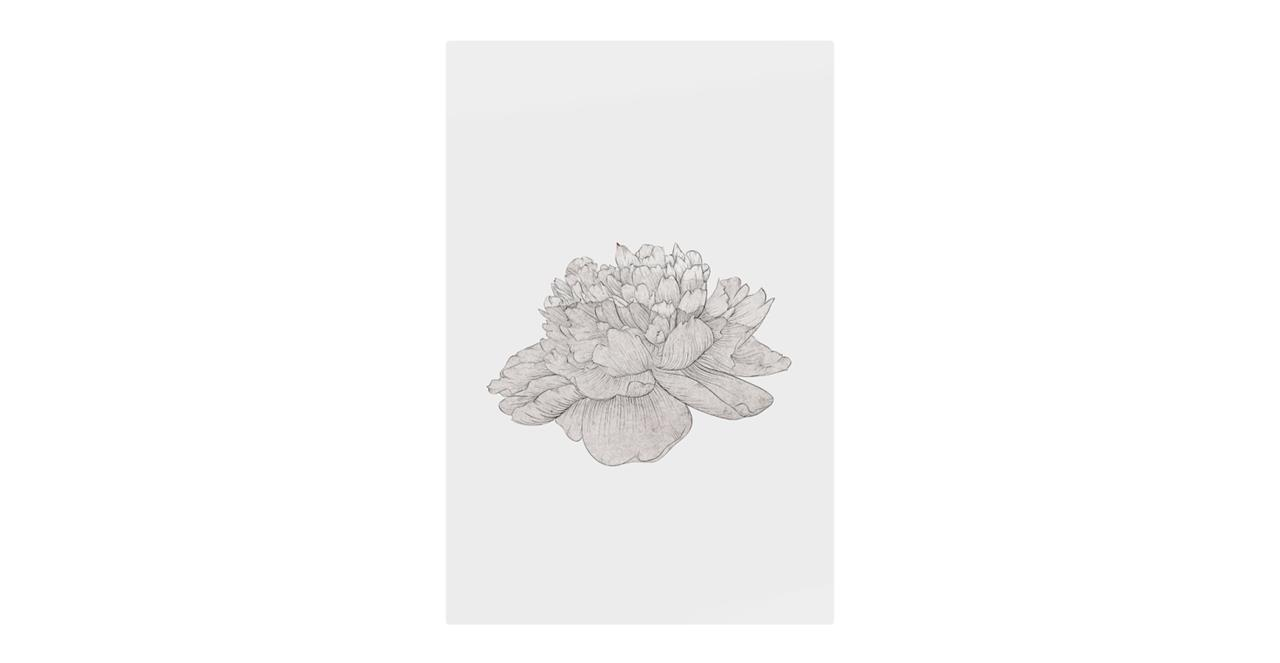 The Flowering Print Metal Print Small Cream