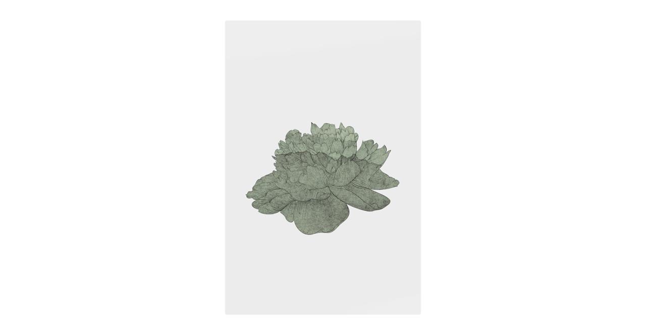 The Flowering Print Metal Print Small Green
