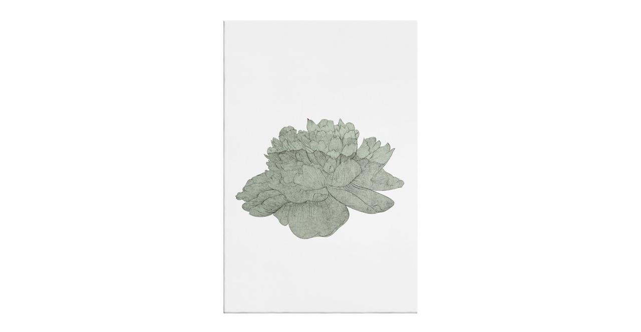 The Flowering Print Canvas Medium Green
