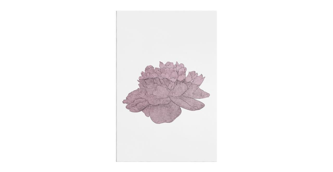 The Flowering Print Canvas Medium Dusty Pink