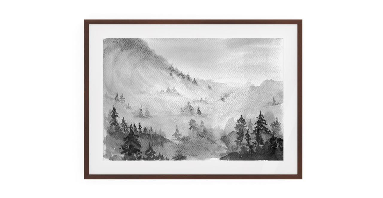 The Forest Print Dark Brown Wood Frame Small