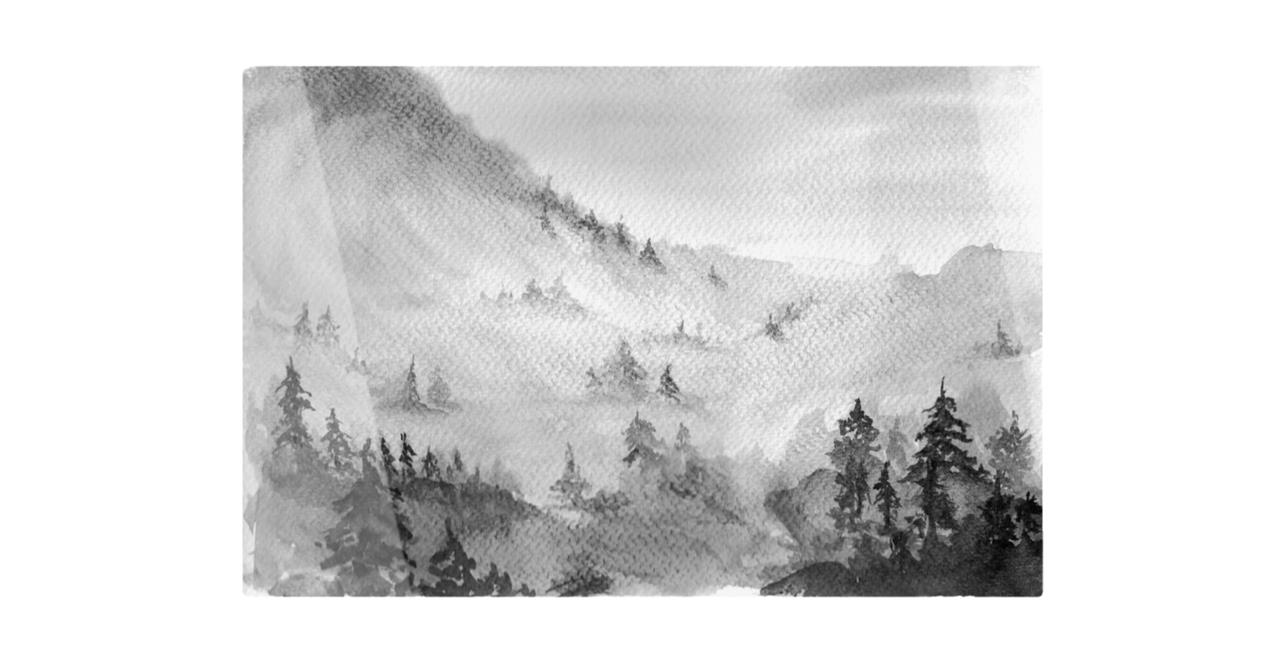 The Forest Print Metal Print Small
