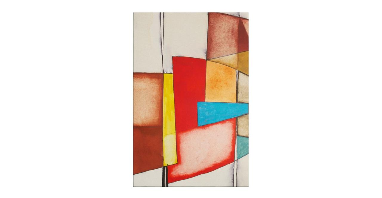 The Fractures Print Canvas Small Square