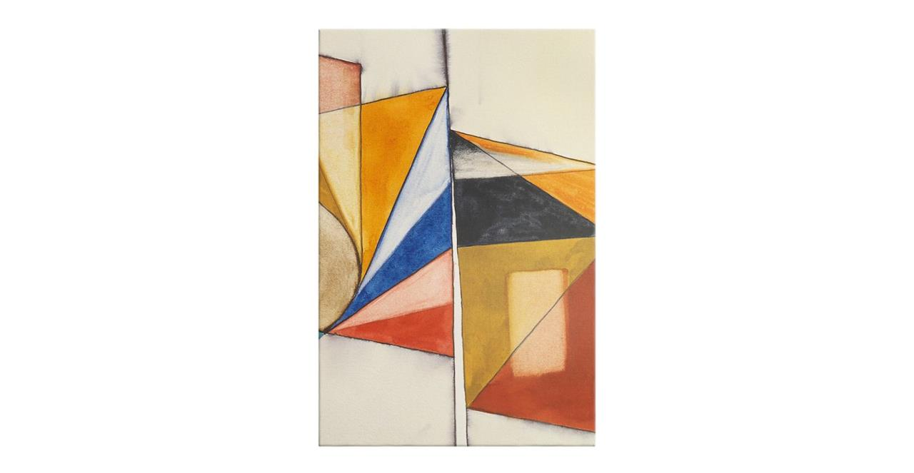 The Fractures Print Canvas Small Triangle