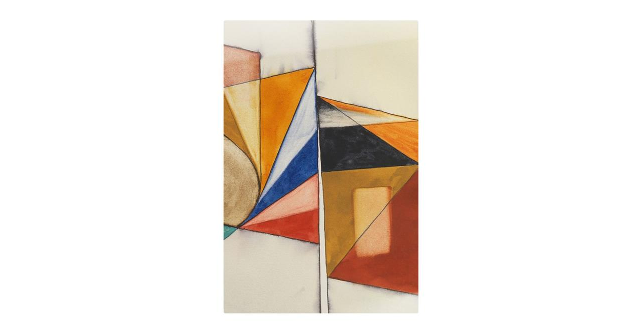The Fractures Print Metal Print Small Triangle