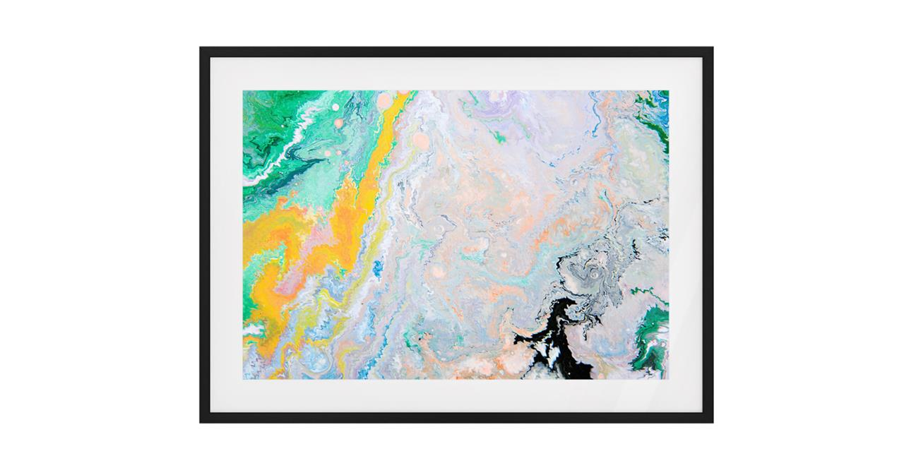 The Fragments Print Black Wood Frame Medium