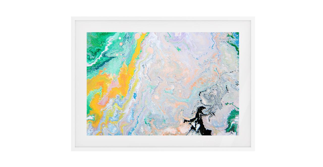 The Fragments Print White Wood Frame Medium