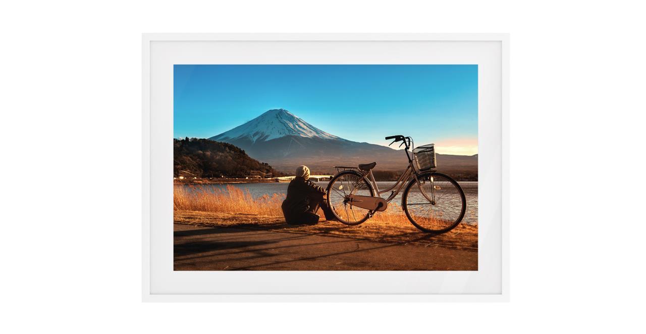 The Fuji Print White Wood Frame Small